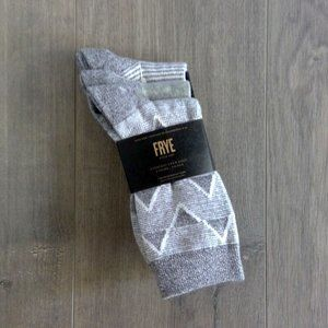 FRYE 3PK Women's Everyday Crew Socks 5-10 Grey NWT